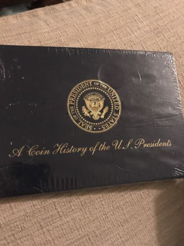 A Coin History of the US Presidents Brass Coins Complete Set Mint Condition