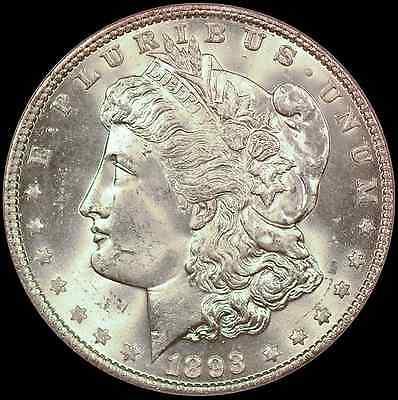 1893 $1 PCGS MS64 CAC Morgan Silver Dollar - Premium Year