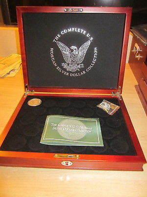 Wooden Case for The Complete US Morgan Silver Dollar Collection plus 1 Morgan Si