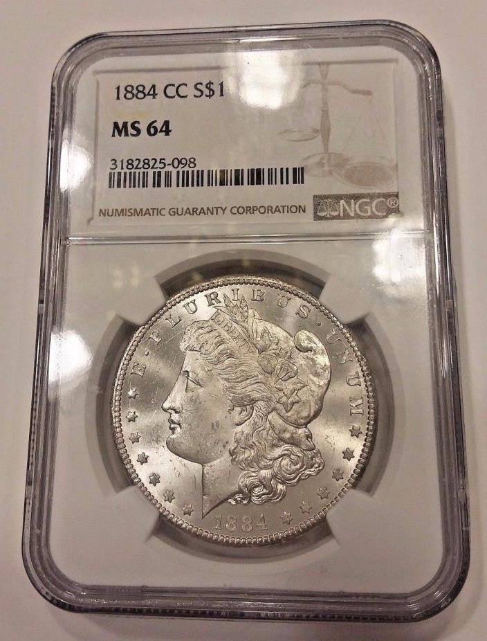 1884 Carson City Morgan Silver Dollar --- MS 64 NGC graded #1