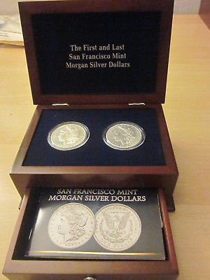 The First & Last San Francisco Mint Morgan Silver Dollars in Wooden Case