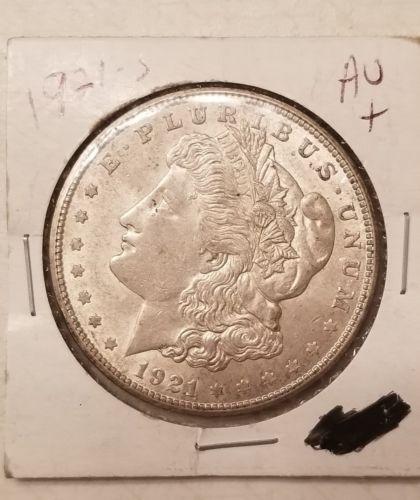 1921  ALMOST UNCIRCULATED+ Silver Morgan Dollar Rare US Antique Coin!