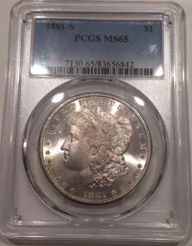 1881-S Morgan Dollar PCGS MS65*PQ Coin*