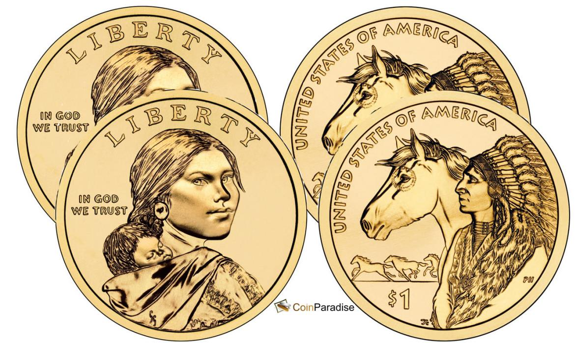2012 P & D Sacagawea Dollars pulled from US Mint Rolls Free Shipping CP2541