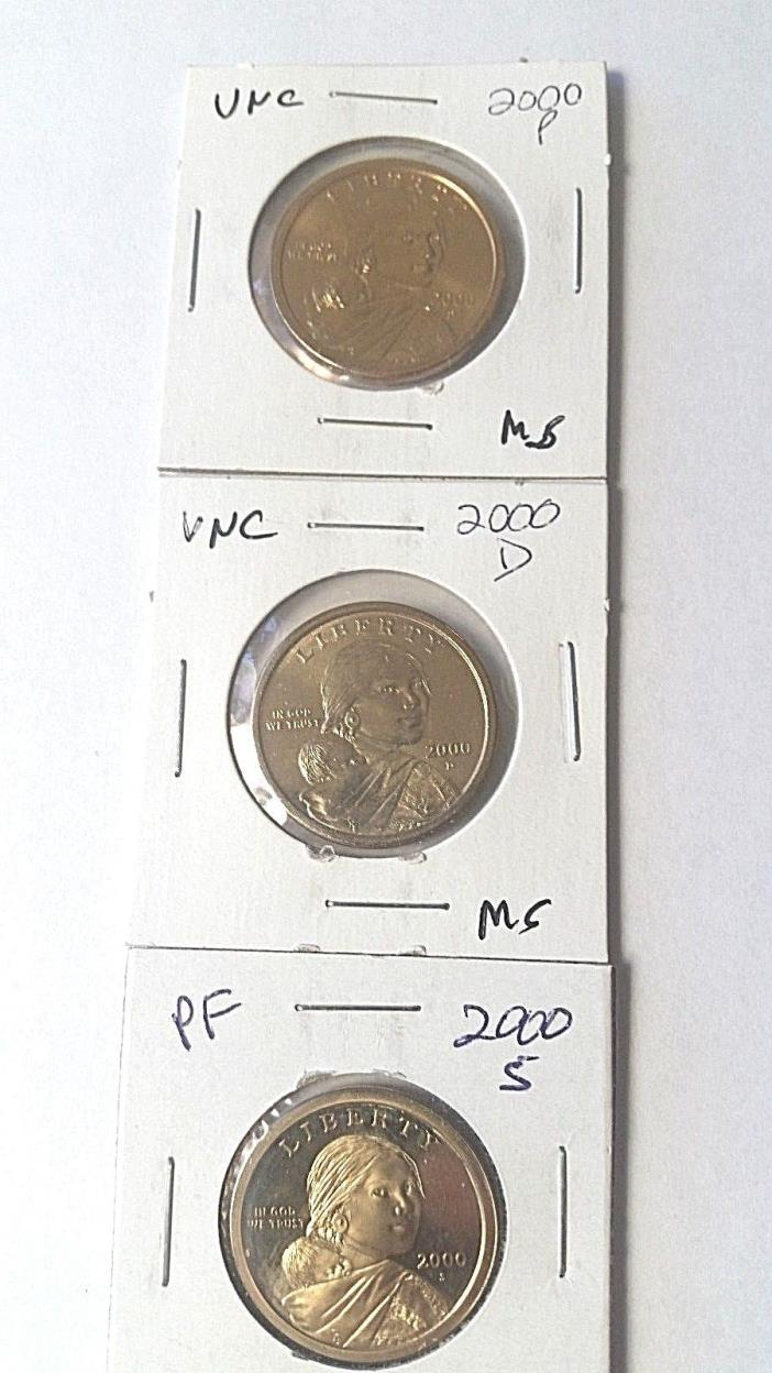 2000 P D & S Sacagawea dollars from U.S. Mint & Proof Sets