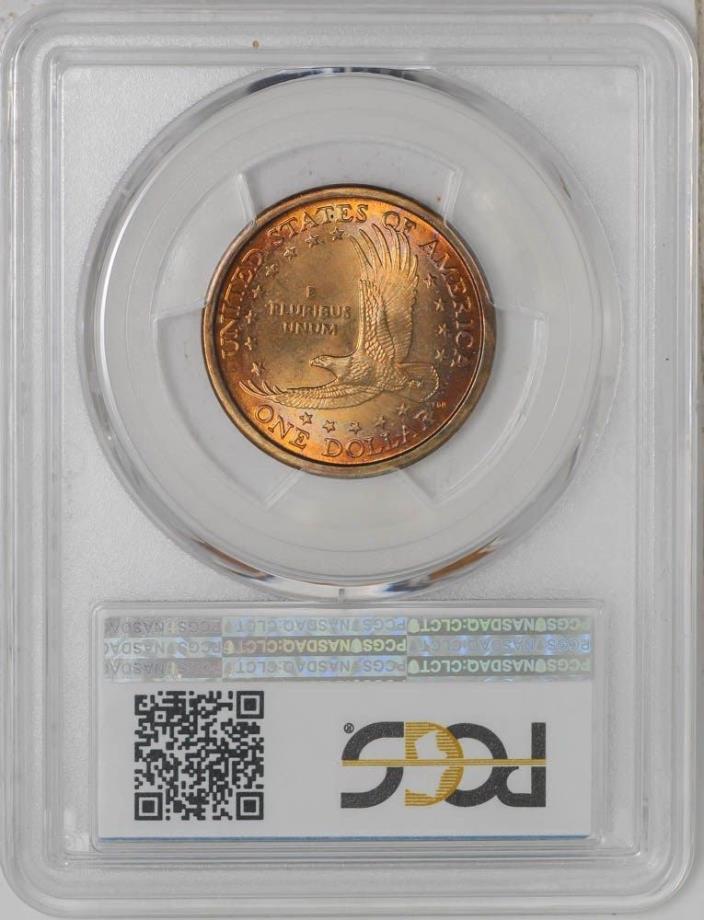 2000-P Sacagawea Dollar $ SAC MS66 Reverse Color PCGS