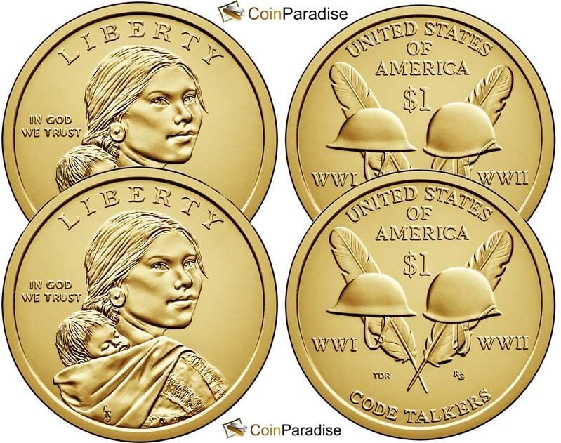 2016 P & D Sacagawea Dollars from US Mint Roll CP2545