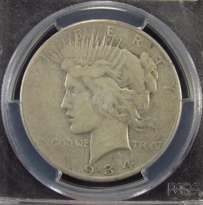 1934-S Silver Peace Dollar PCGS VF25 (953)