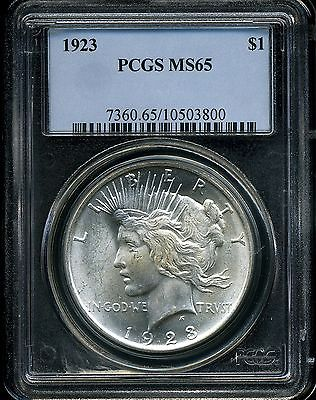 1923 $1 Peace Silver Dollar MS65 PCGS 10503800