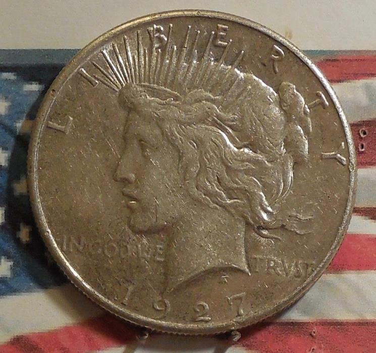 1927-S Peace Dollar Coin