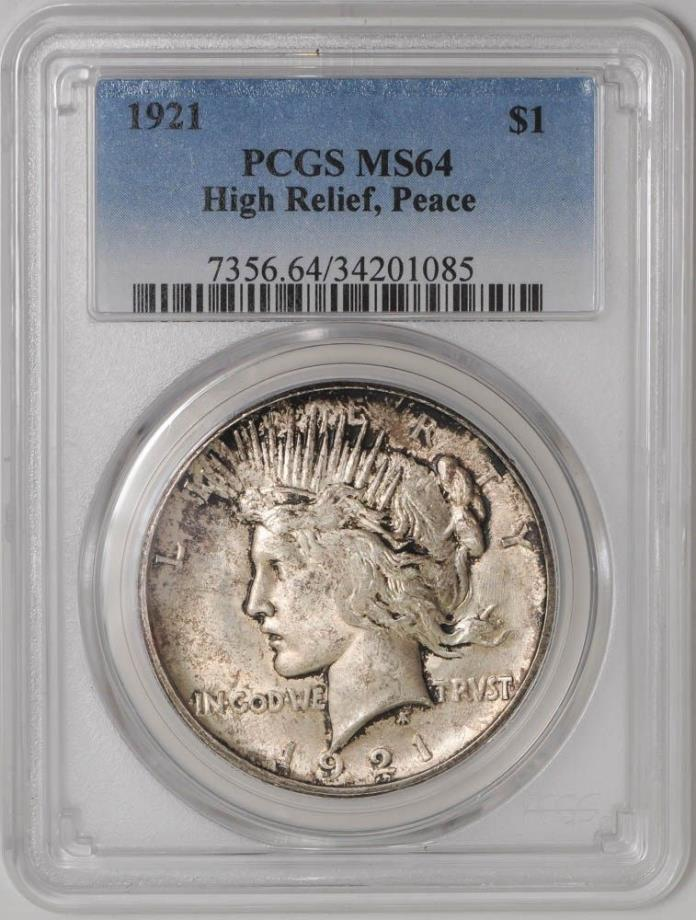 1921 Peace Dollar $ MS64 PCGS