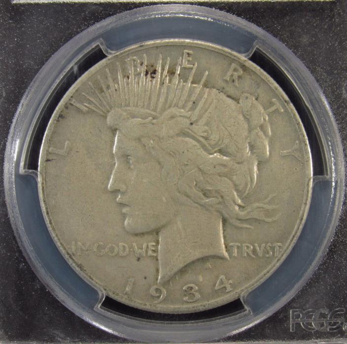 1934-S Silver Peace Dollar PCGS VF20 (288)