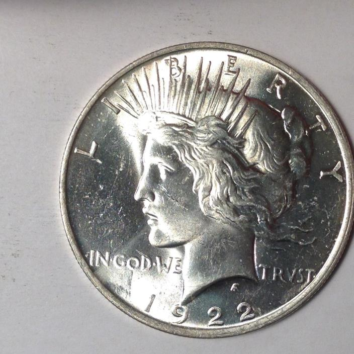 1922 PEACE SILVER DOLLAR. BOLD DETAILS. TAKE A LOOK!! [PD2-2]