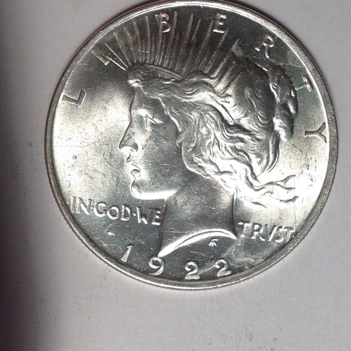 1922 PEACE SILVER DOLLAR. BOLD DETAILS.  TAKE A LOOK!!  [PD2-1]