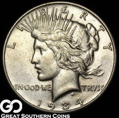 1934-S Peace Dollar, Tough Key Date