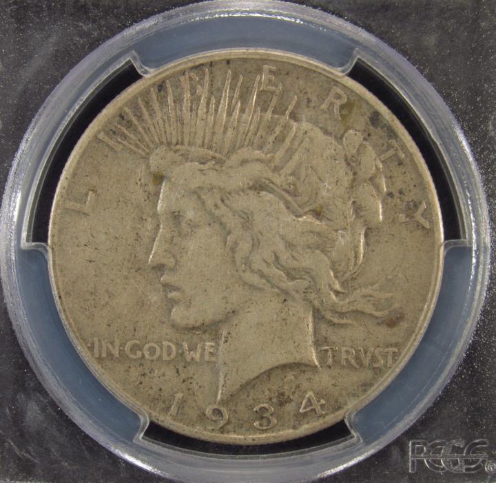 1934-S Silver Peace Dollar PCGS VF25 (293)