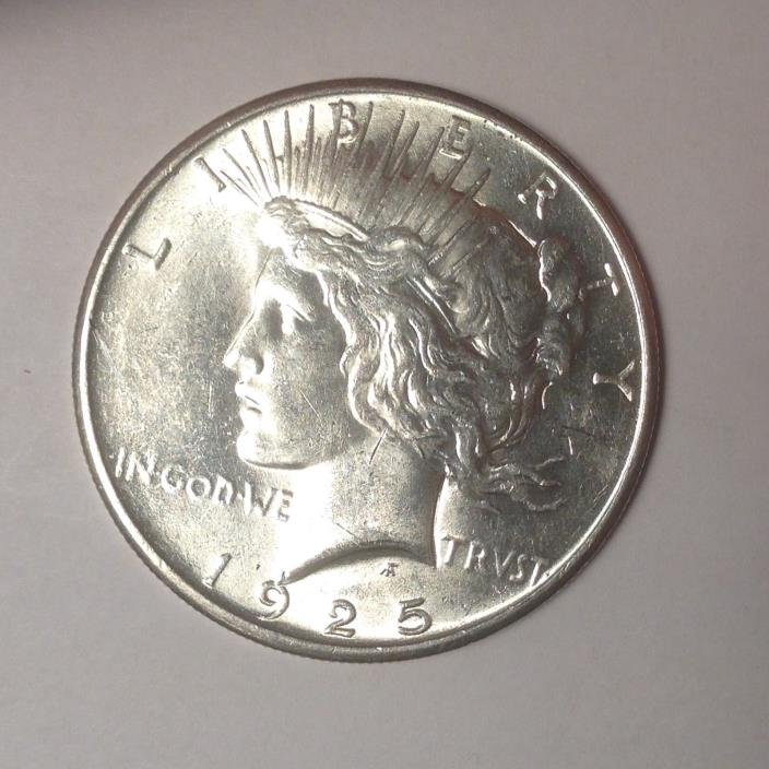 1925 PEACE SILVER DOLLAR. BOLD DETAILS. TAKE A LOOK!! [PD5-3]