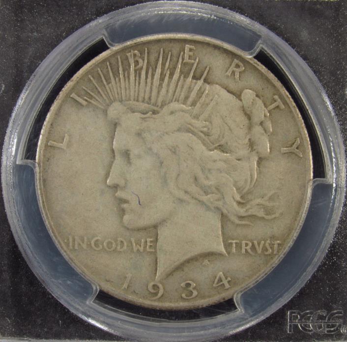 1934-S Silver Peace Dollar PCGS VF25 (595)