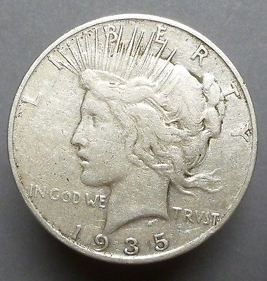 1935-S PEACE SILVER DOLLAR PLEASING F
