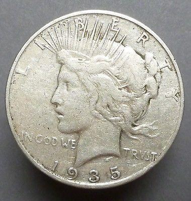 1935-S PEACE SILVER DOLLAR PLEASING F