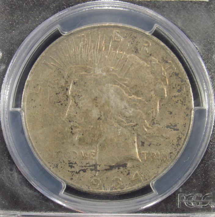 1934-S Silver Peace Dollar PCGS VF30 (972)