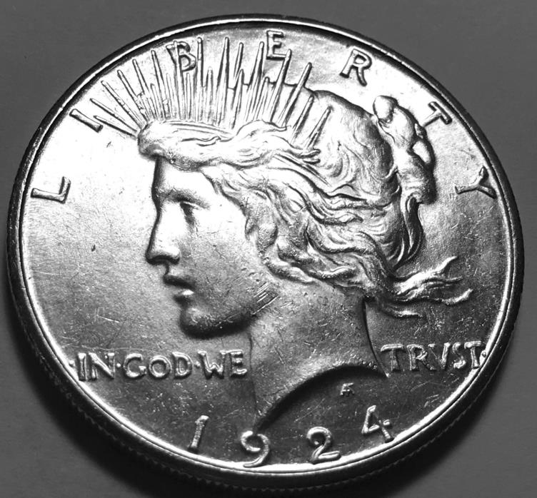 1924 S Peace Dollar GEM BU