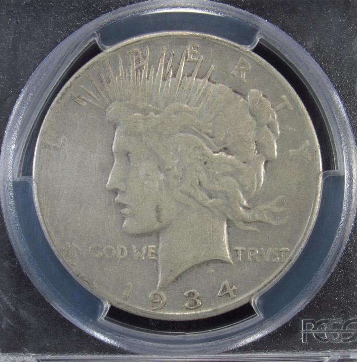 1934-S Silver Peace Dollar PCGS VF25 (954)