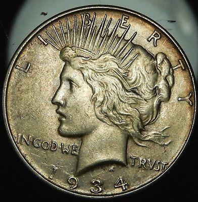 1934 D Peace Silver Dollar - XF !!