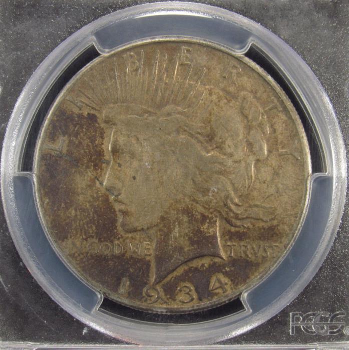 1934-S Silver Peace Dollar PCGS VF30 (974)