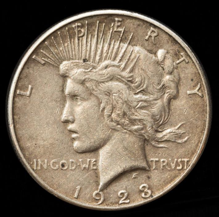 1923 S-Mint $1 Peace Silver Dollar Extra Fine + Free S/H 30 Day Return *2145