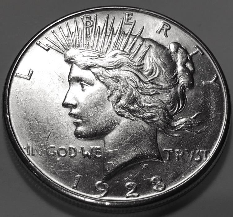 1923 S  PEACE  DOLLAR  CHOICE BU #3