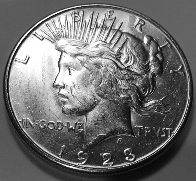 1923 S  PEACE  DOLLAR  CHOICE BU #1
