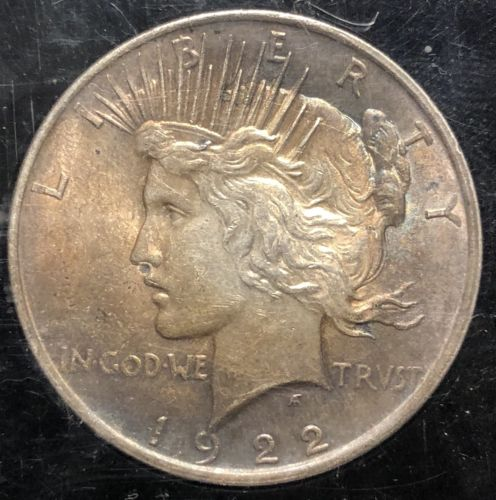 1922 peace dollar toned!