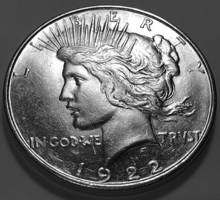 1922 D  PEACE  DOLLAR  CHOICE BU #2