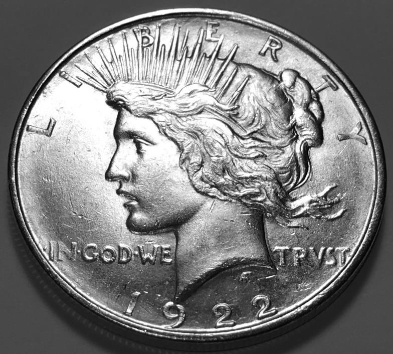 1922 D  PEACE  DOLLAR  CHOICE BU #1