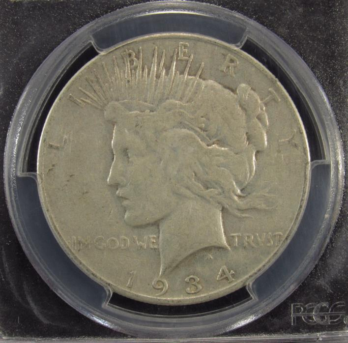 1934-S Silver Peace Dollar PCGS VF35 (999)