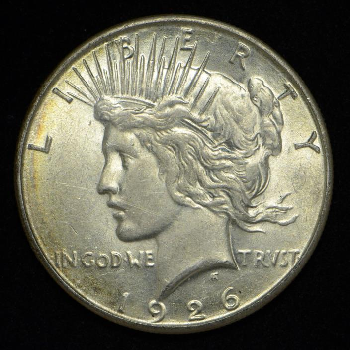 1926-S Peace Silver Dollar United States Coin AU+ (cn4728)