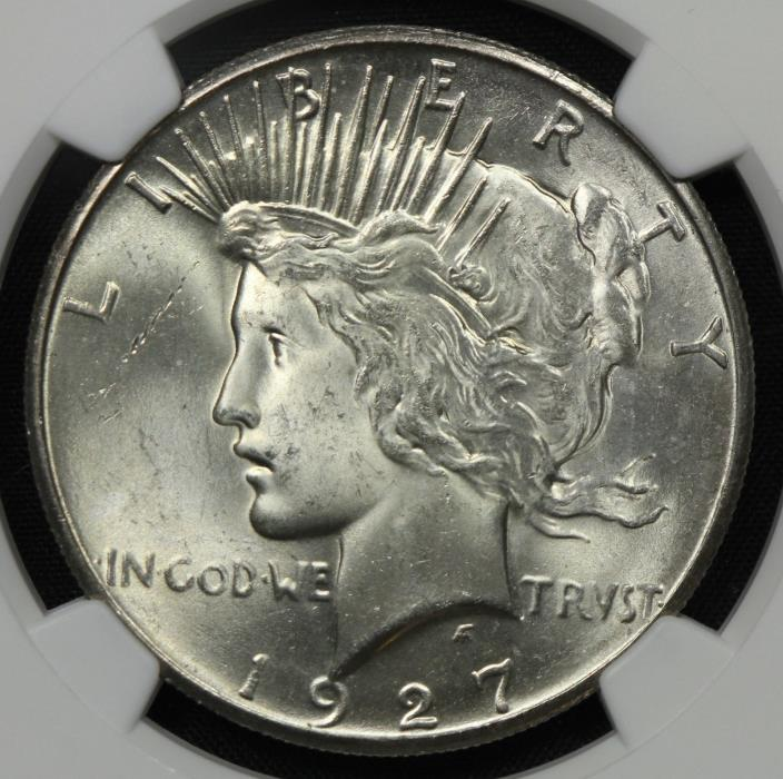 BETTER DATE NGC MS63 1927 SILVER PEACE DOLLAR $1    (BC02)
