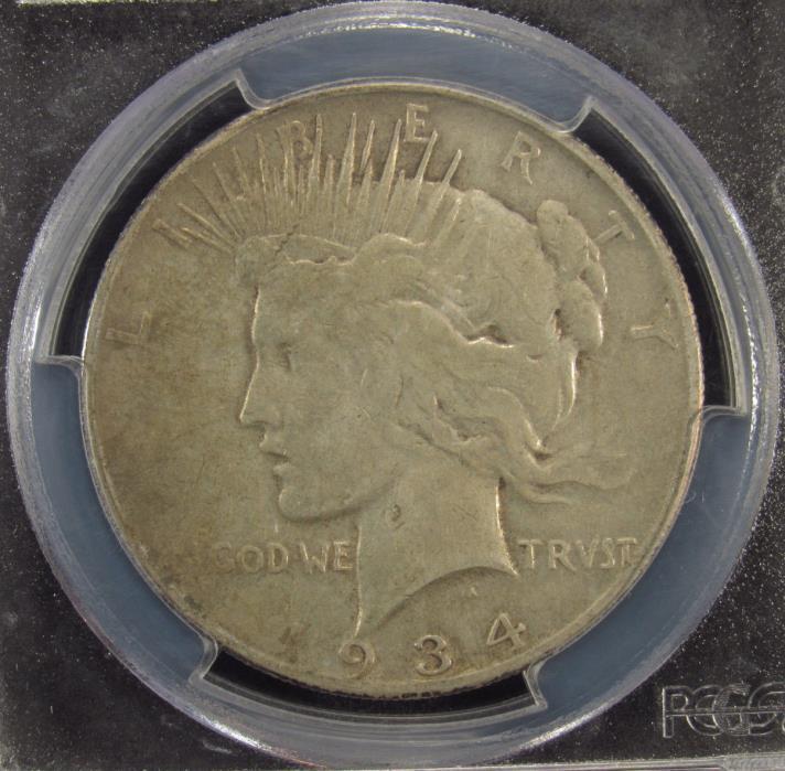 1934-S Silver Peace Dollar PCGS VF25 (545)