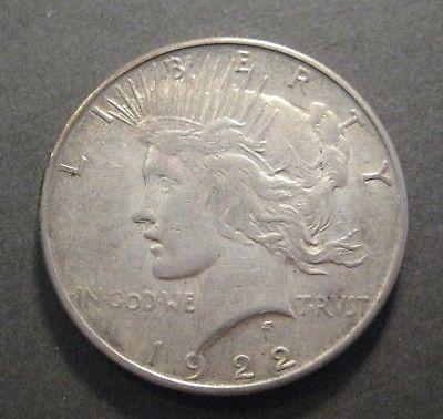 1922 S  Peace Silver Dollar - 90% Silver - * No Reserve * - (P362)