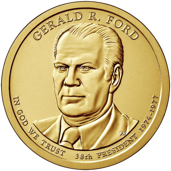 2016-S $1 Gerald Ford- P Presidential Dollar Uncitculated from Mint Set