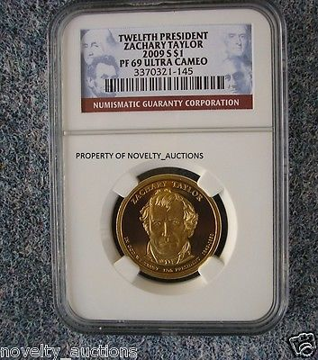 N07 ZACHARY TAYLOR 2009 PRESIDENTIAL $1 DOLLAR PF 69 ULTRA CAMEO NGC 3370321-145
