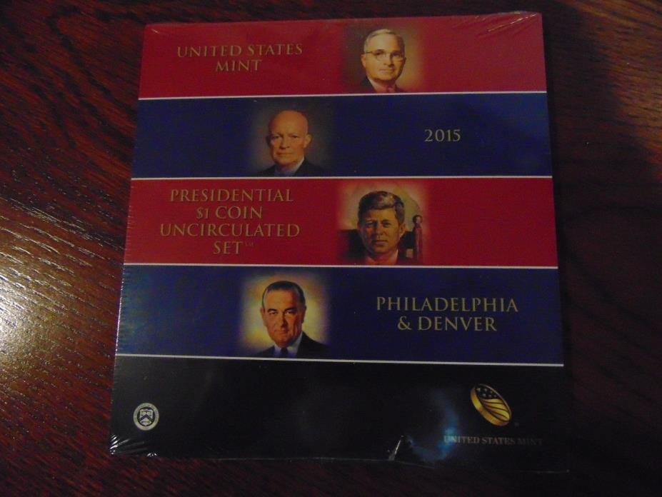 Unopened 2015 Presidential $1 Uncirculated Coin Set   8 Coins   P & D Mints