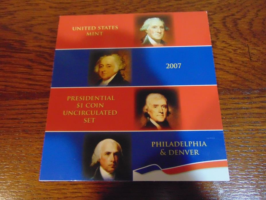 Complete Set 2007 - 2016 Presidential $1 Uncirculated Coin Sets