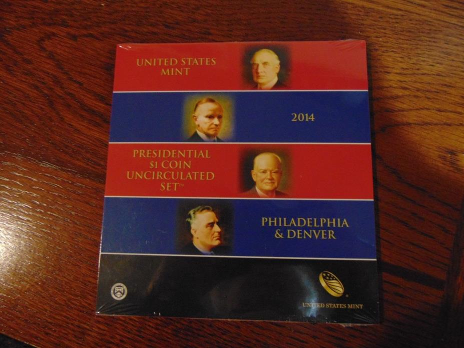 Unopened 2014 Presidential $1 Uncirculated Coin Set   8 Coins   P & D Mints