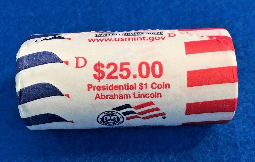 2010-D Abraham Lincoln Unopened U.S. Mint Wrapped $25 Dollar Roll