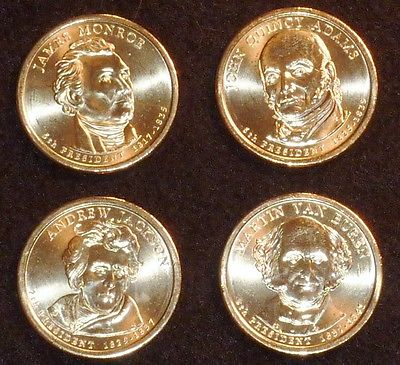 2008 D Presidential Dollar Coin Set - 4 Coins  UNCIRCULATED Free Shipping