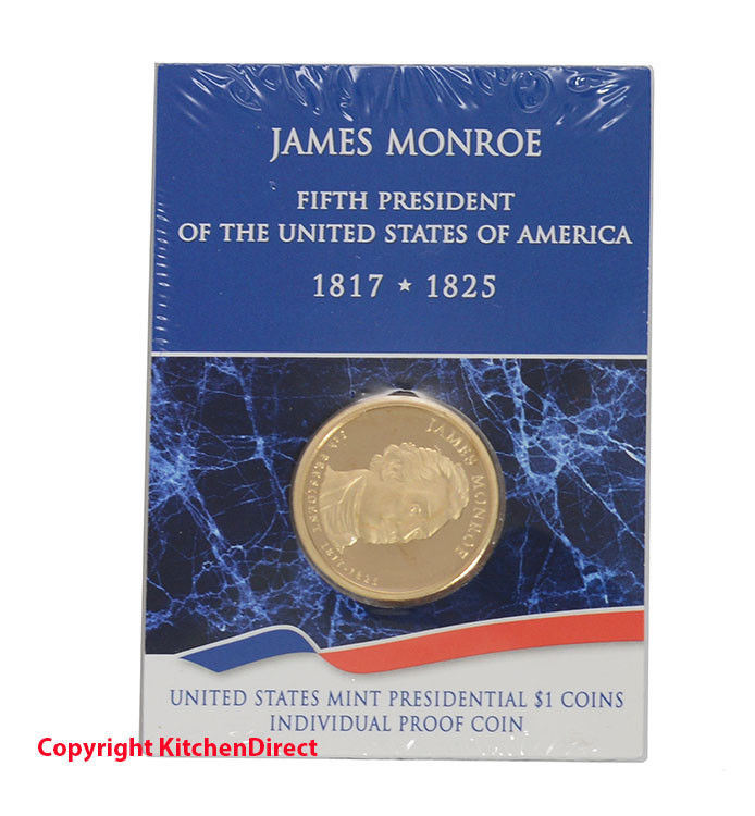 2008 James Monroe US Mint $1 Individual Dollar Proof Coin XF2