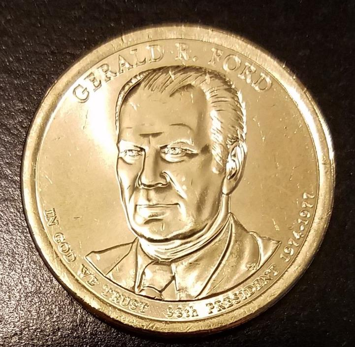 2016-D Gerald Ford Presidential Dollar - From US Mint Roll (7069)