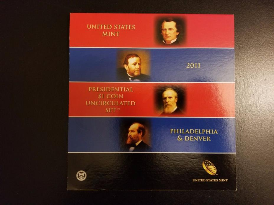 2011 US MINT PRESIDENTIAL  8 COIN UNCIRCULATED SATIN DOLLARS SET  P&D